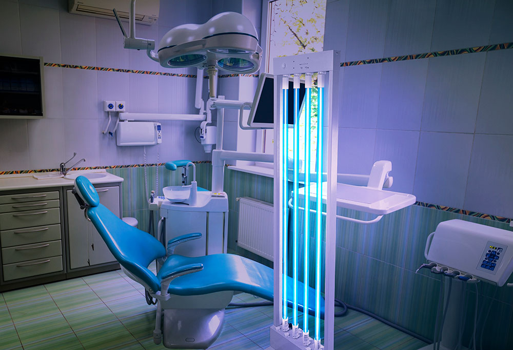 Dentist room UV Disinfection with MUVi Disinfector
