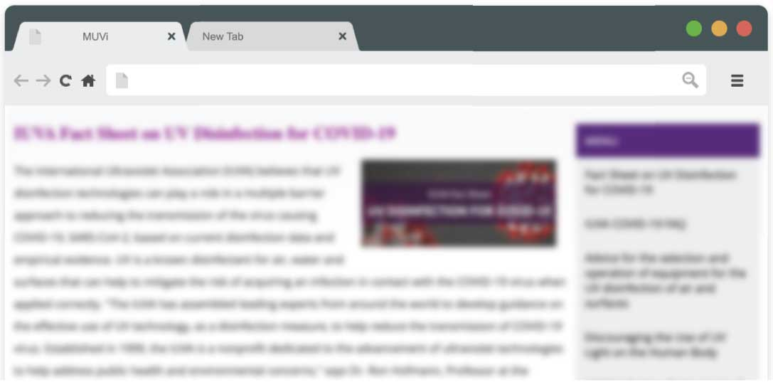 IUVA Fact Sheet on UV Disinfection for COVID-19