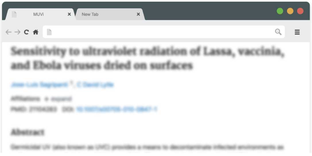 Sensitivity to ultraviolet radiation